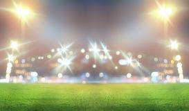 Stadium w światłach Obrazy Royalty Free