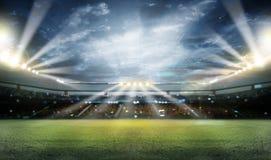 Stadium w światłach 3d i błyskach royalty ilustracja