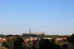 Stadium in Warsaw Poland stock photo