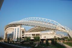 Stadium. Weinan City, Shaanxi Province, China is building a stadium Royalty Free Stock Image