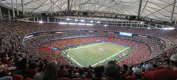 Stadium widok pregame Zdjęcie Stock