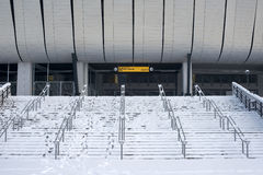 Stadium in winter Royalty Free Stock Photo