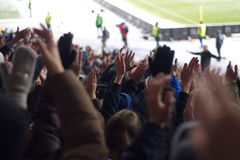 stadium wspiera drużyny w zimie Obrazy Royalty Free