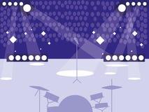 Stadium z rockowym koncertem royalty ilustracja