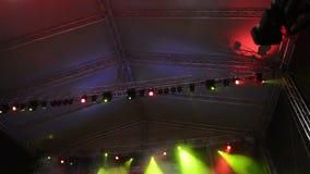 Stadiumlichten - de lengte van HD 1080p stock footage