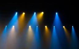 Stadiumlichten op overleg Royalty-vrije Stock Foto's