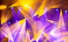 Stadiumlichten op overleg De schijnwerper van de verlichtingsequipment Stock Afbeeldingen