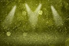 Stadiumsscheinwerfer bokeh Zusammenfassungshintergrund der gelben schönen glatten Funkelnlichter fliegen defocused mit Funken, Fe vektor abbildung