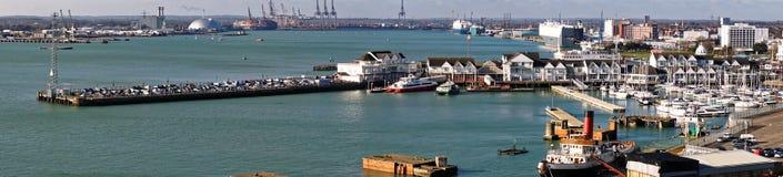 Stadkaj, Southampton, England Arkivfoto
