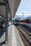 Stadler FLIRT train in Stans, Switzerland Royalty Free Stock Images
