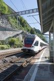 Stadler FLIRT train in Territet, Switzerland Stock Photos