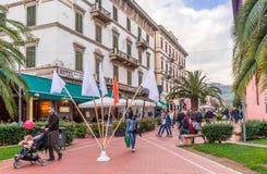 Stadmitt av Montecatini, Italien Arkivfoton