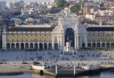 Stadmitt i Lissabon, Portugal Arkivfoton