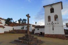 StadPlaza, Chinchero, Peru Royaltyfria Bilder