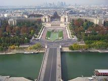stadsöverblick paris Arkivfoton