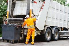 Stads- återvinningavfalls- och avskrädeservice Arkivfoton