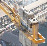 stads- över huvudet plats för krandrake Royaltyfri Foto