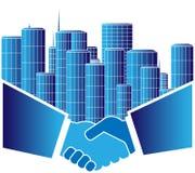 stads- överenskommelse Arkivfoto