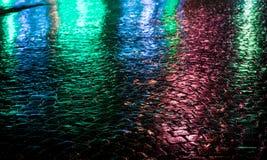 stads- abstrakt bakgrund Ljus och skuggor av staden Royaltyfria Bilder