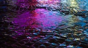 stads- abstrakt bakgrund Ljus och skuggor av staden Fotografering för Bildbyråer