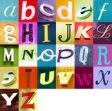 stads- alfabet 2 Arkivfoto