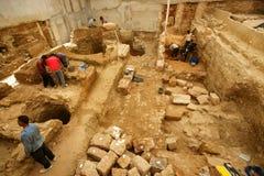 stads- arkeologi Arkivbilder