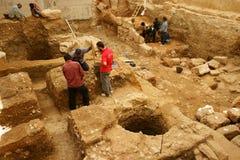 stads- arkeologi Arkivbild