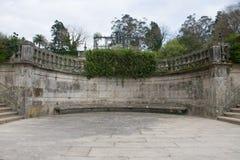 Stads- arkitektur av Santiago de Compostela, Spanien Arkivbild