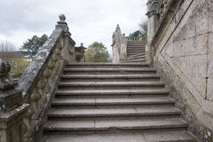 Stads- arkitektur av Santiago de Compostela, Spanien Royaltyfri Bild