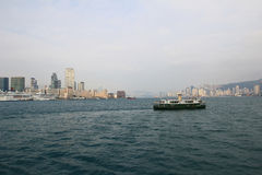 Stads- arkitektur i Hong Kong Victoria Harbor Arkivfoto
