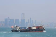 Stads- arkitektur i Hong Kong Victoria Harbor Fotografering för Bildbyråer