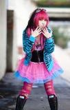 stads- asiatisk lolita fotografering för bildbyråer