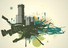 stads- bakgrund royaltyfri illustrationer