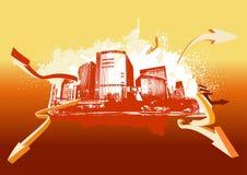 stads- bakgrund Royaltyfria Bilder