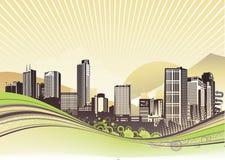 Stads- bakgrund Arkivfoto