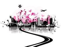 stads- bakgrundscityscape Arkivbild