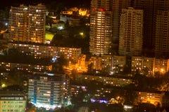 stads- bakgrundsnattstad Royaltyfri Foto