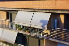 Stads- balkong Fotografering för Bildbyråer