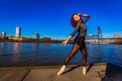stads- ballerina Royaltyfri Fotografi