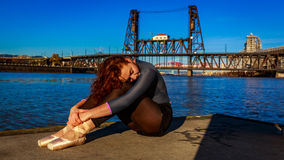 stads- ballerina Royaltyfri Bild