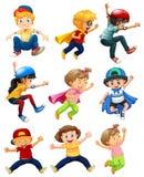 Stads- barn för en uppsättning oj vektor illustrationer