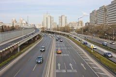 stads- beijing s trafik Royaltyfria Bilder