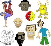 stads- bildspråk stock illustrationer