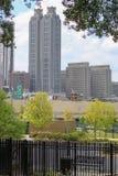 Stads- bosatt Atlanta bänk Royaltyfri Bild