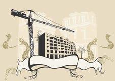 stads- byggande stock illustrationer