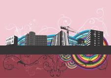 stads- byggnader Fotografering för Bildbyråer