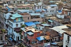 Stads- byggnader i gammal del av Guangzhou metropole av det Guandong landskapet, Kina Royaltyfri Bild