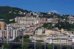 Stads- byggnader i Genova Royaltyfria Foton