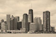 stads- chicago stadshorisont Fotografering för Bildbyråer