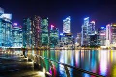 Stads- cityscape i Singapore Royaltyfria Foton